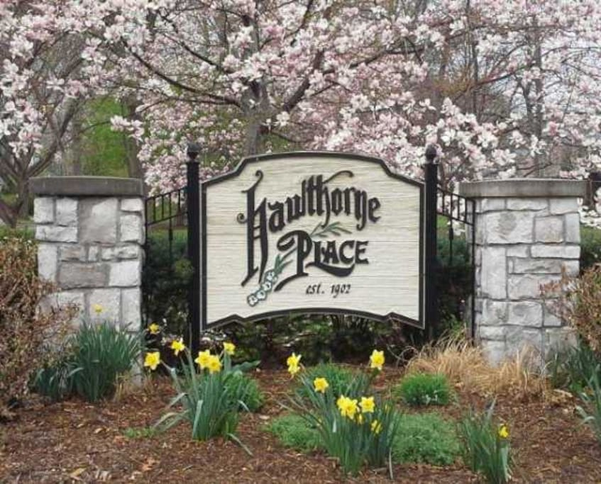 I'm located in the middle of Historic Hawthorn Place.