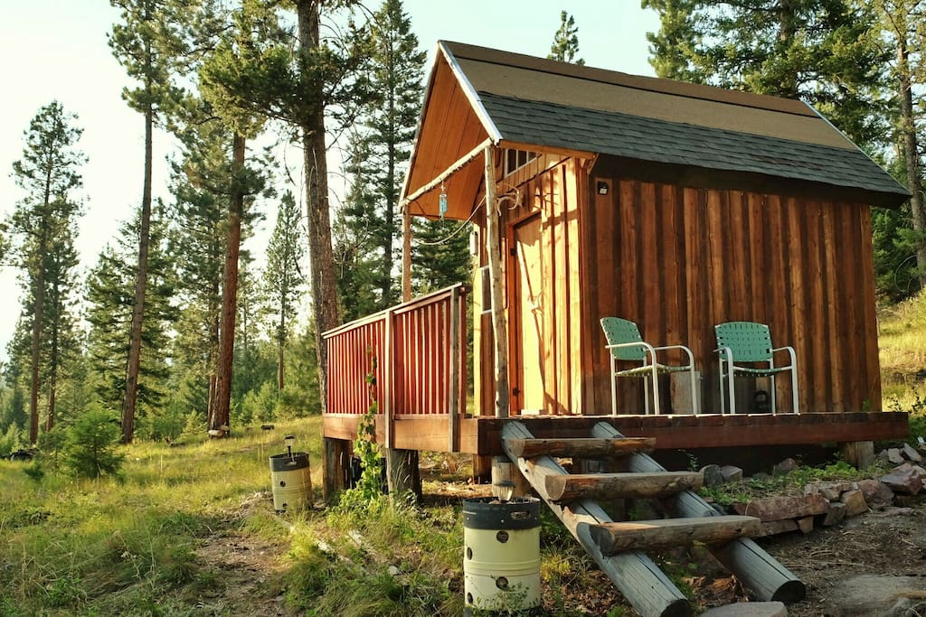 Located on over 100+ acres of Montana wilderness, this cabin is a perfect off grid getaway.