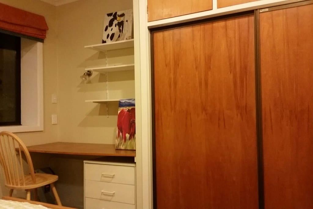 The wardrobe & desk