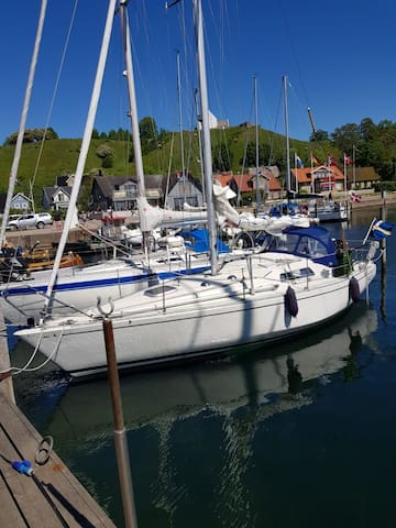 Båstad harbour, your own boat - in a lovely place