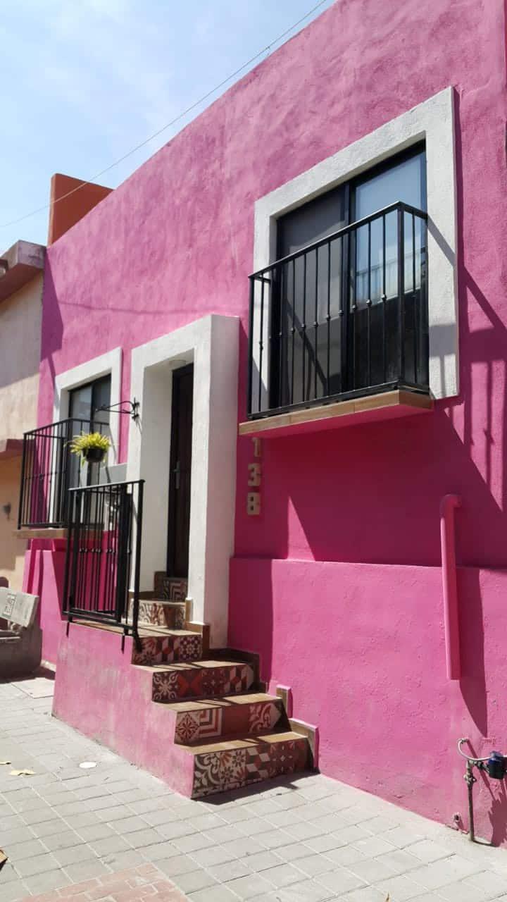 Loft en la Casa Rosa en San Pedro. Estilo Mexicano