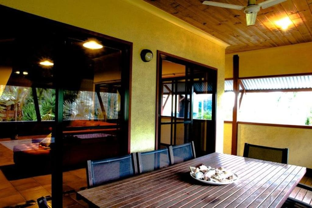 Front Verandah covered in from the elements and private views of mountains