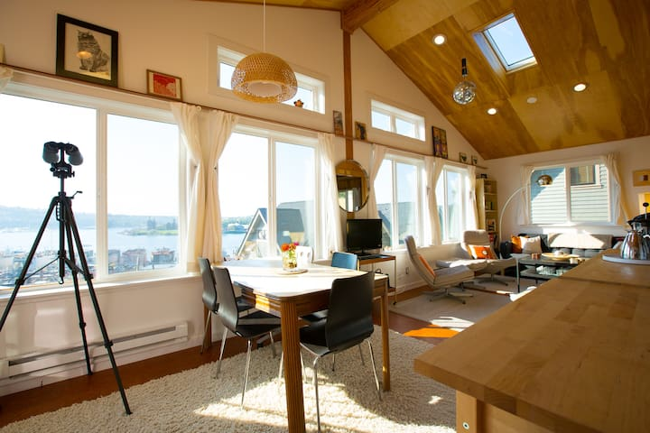 "Lake Union view ""Sky Cabin"" apartment - Seattle - Huoneisto"