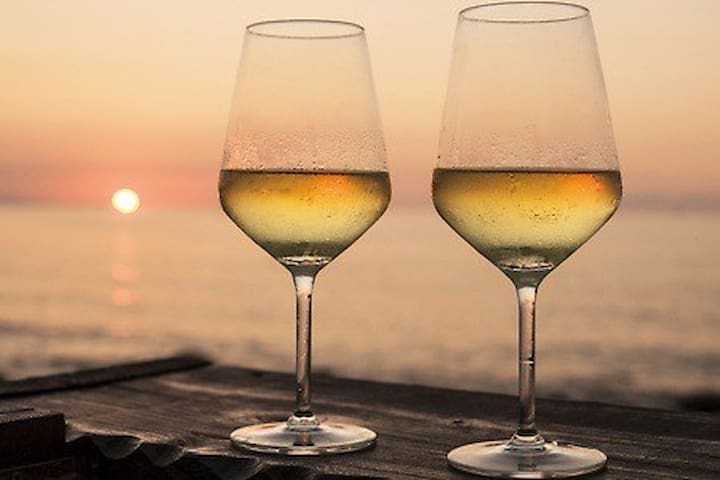 you can a romantic toast by the lake watching the sunset