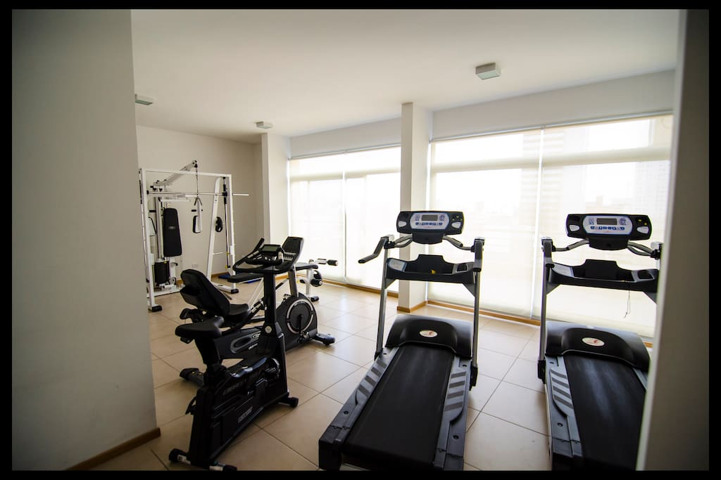 We have a gym in the building if you are up to it.