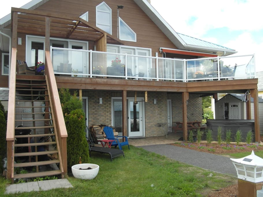 Stairs to your private deck and separate entrance.