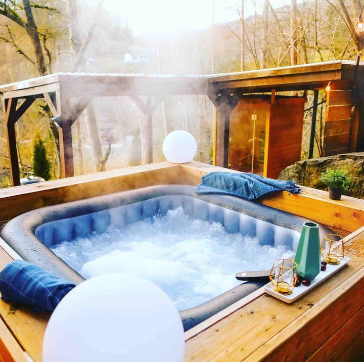 SECRET CHALET JAQUZZI & SAUNA 100% Privacy