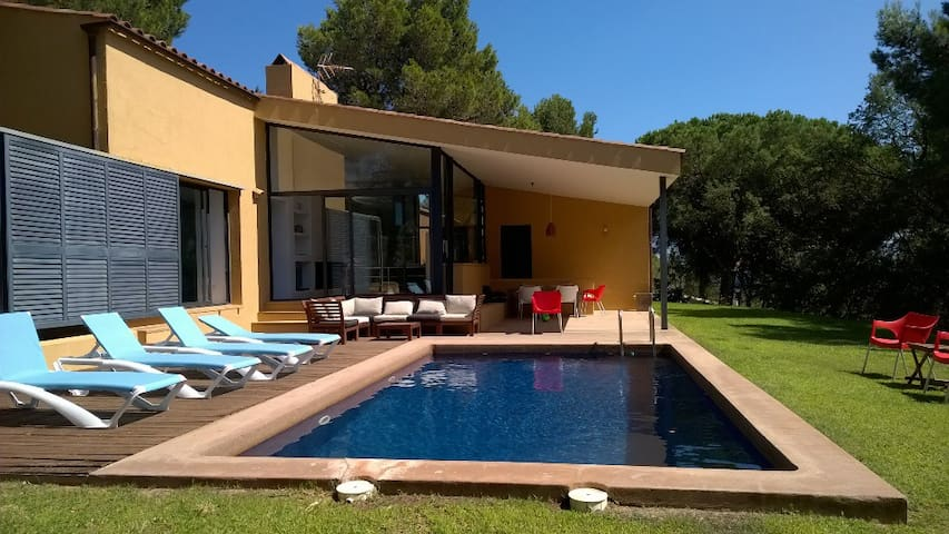 Modern house, private swimming pool, walk to beach - Tamariu de Palafrugell - Hus
