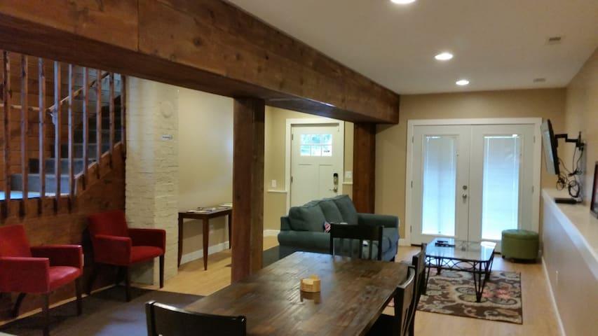 Living room/dining room.  Queen sofa sleeper.