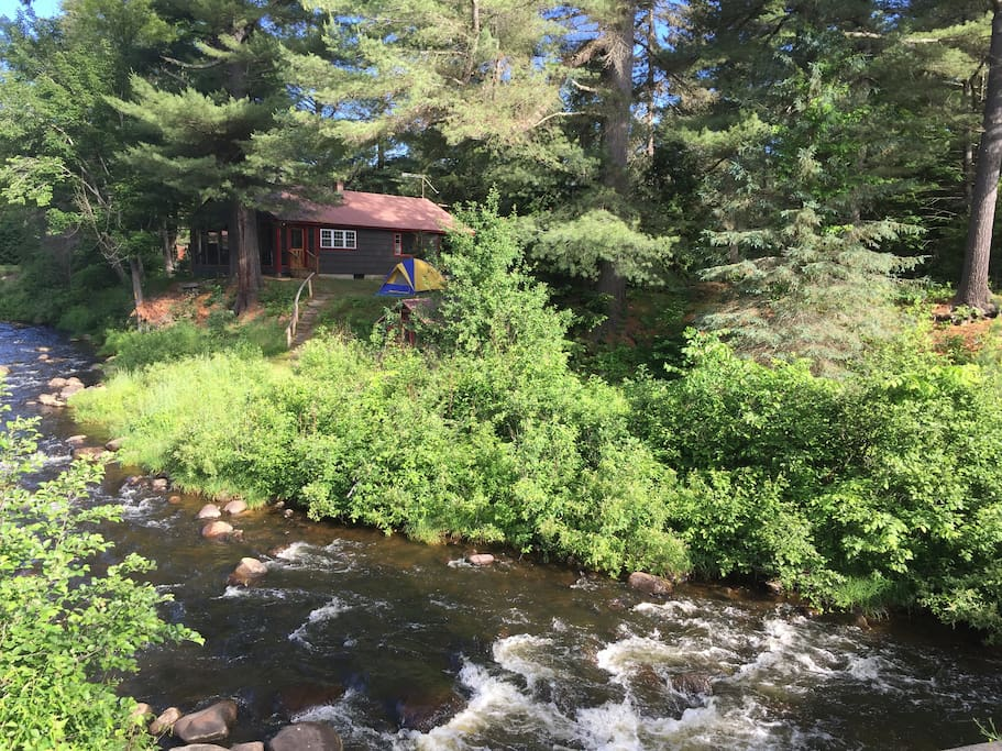 Image of Camp Shady with trout stream running thru the property
