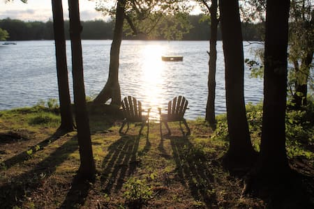 Modern Lakefront Home~Church Pond - Saranac Lake