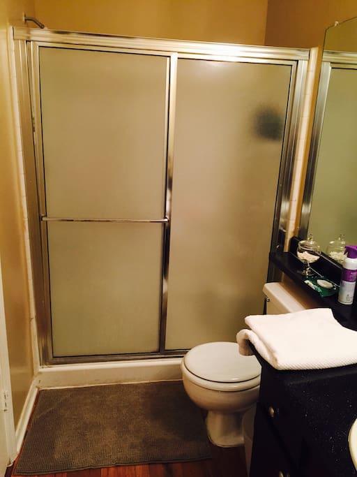 Very Clean Bathroom with plenty room
