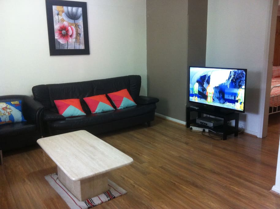 Lounge has a flat-screen TV