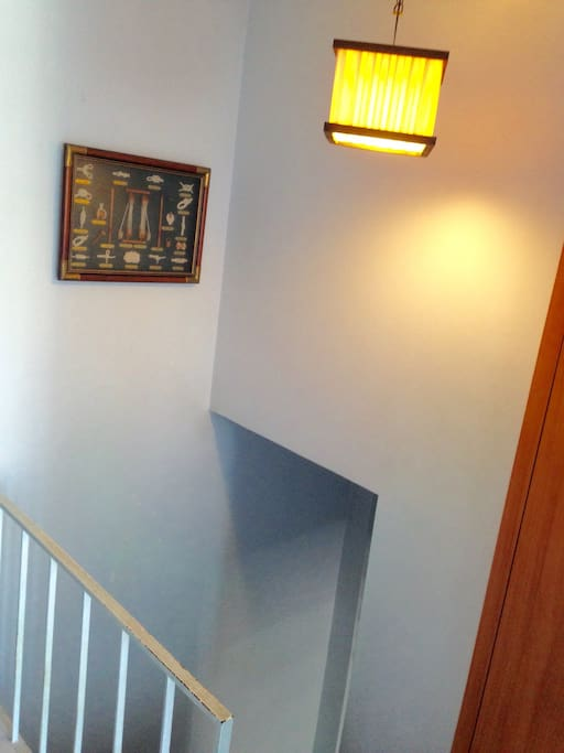Upstairs - hall way and stairs