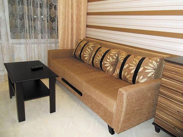 Основное спальное место - двухспальный диван