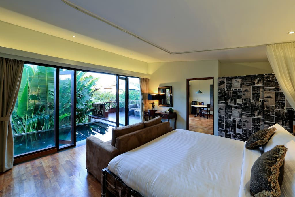 Master Bedroom facing pool