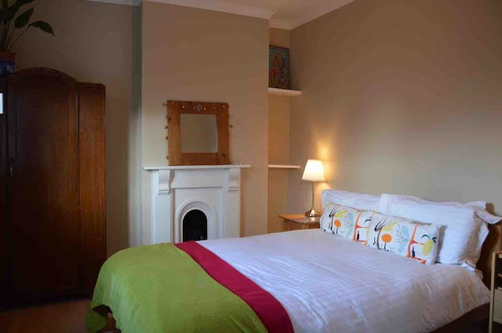 Cosy-comfy double room.  Free parking, breakfast.