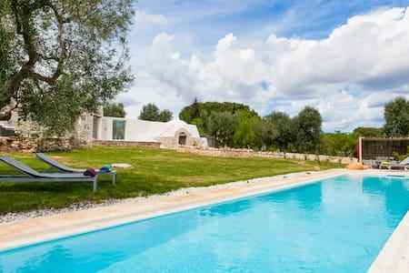 TRULLO DI  CARINE with 17x3,5m pool - Ostuni - House