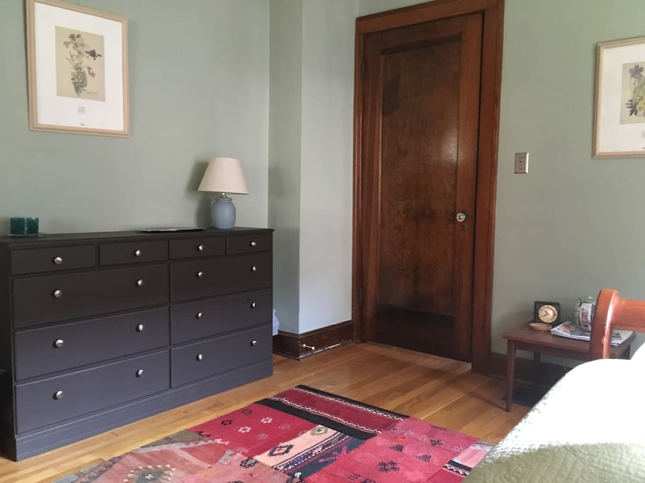 That door leads to your bathroom, and on through to the kitchen.