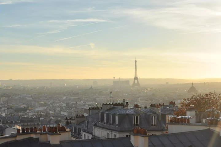 Luxury, sunny flat with breathtaking view on Paris