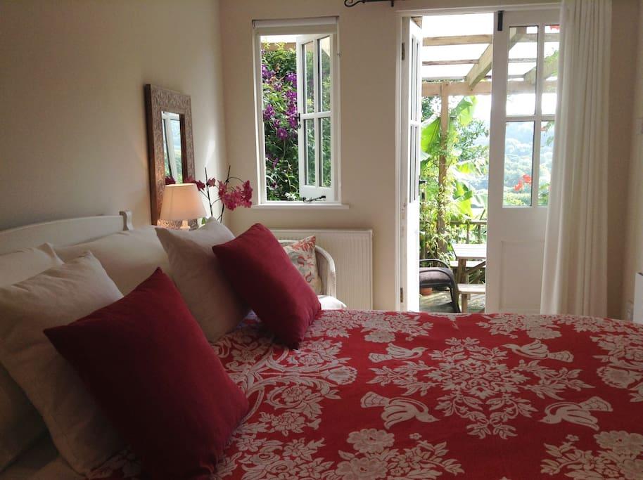 B&B Room with french doors to veranda