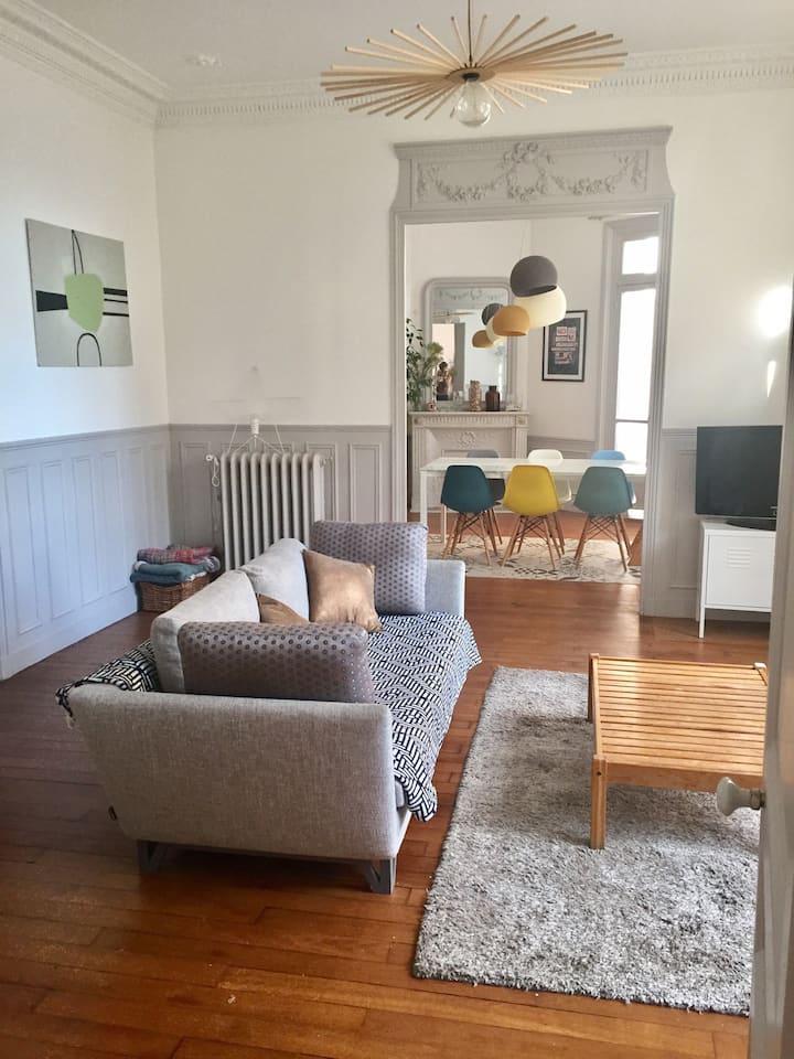 Bel appartement à 11 mn de paris
