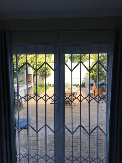 Security door.