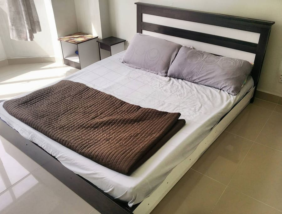 Queen Bed! Comfort for Two.