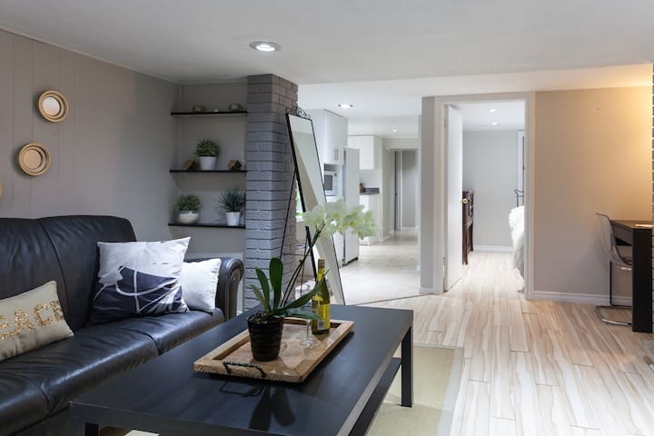 Spacious spotless, private 2BD with fireplace - Toronto - Appartement