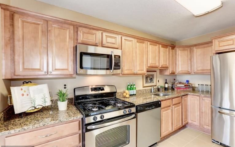 One Bedroom Delux 1.5 bath Spacious and Sunny.
