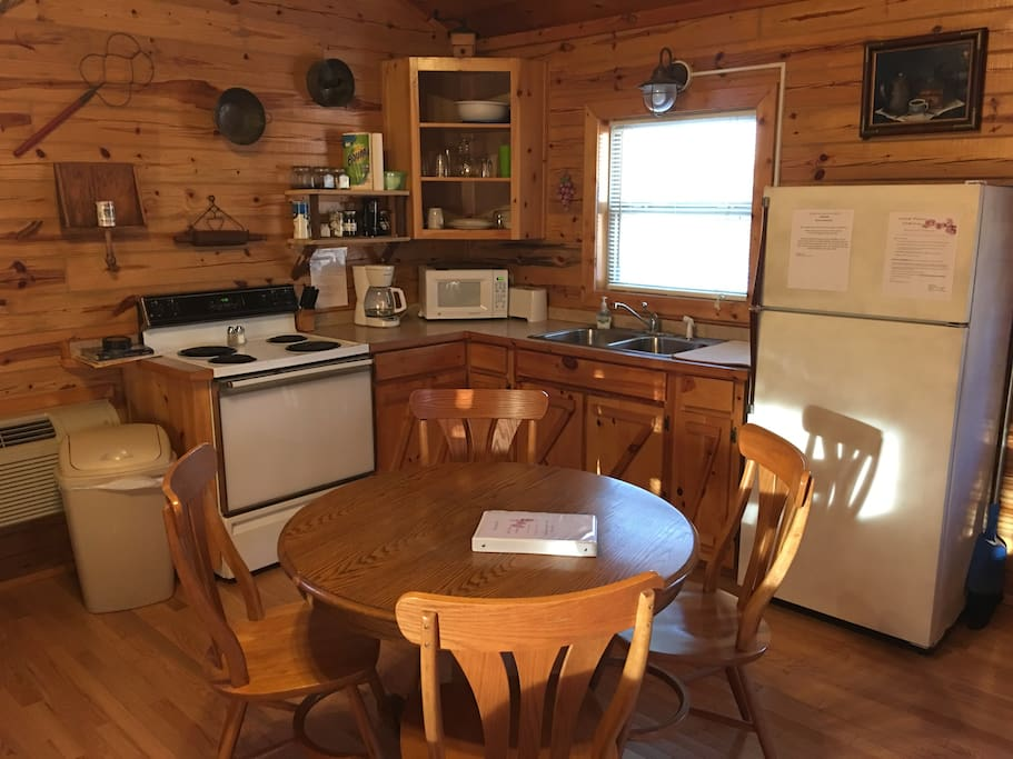 Fully furnished kitchen with coffee/tea bar.