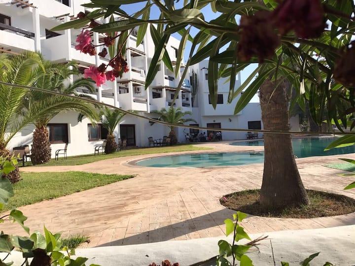 Maison de plage 120m2 à Yasmine Negro