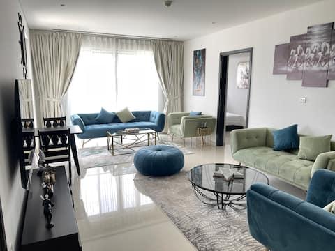 Cozy 2 bedrooms apartment in al Mouj - The Wave
