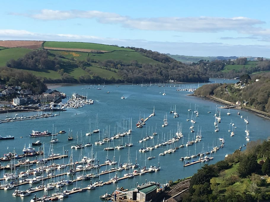 Fantastic birds eye views of the River Dart