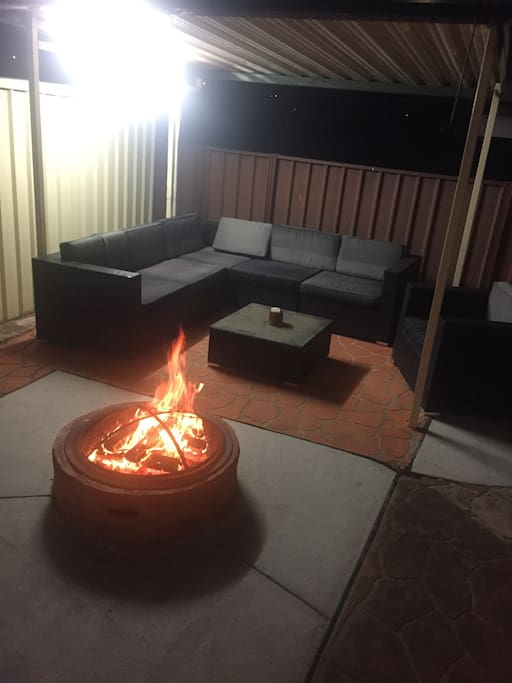 Relax and enjoy a night by the fire or pool or both