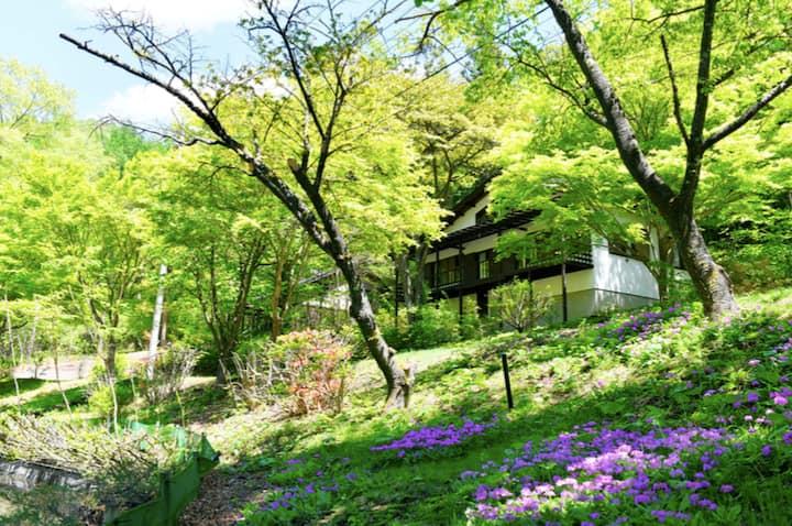 四季の彩りが鮮やかなレイクビューハウス/軽井沢駅から車で10分