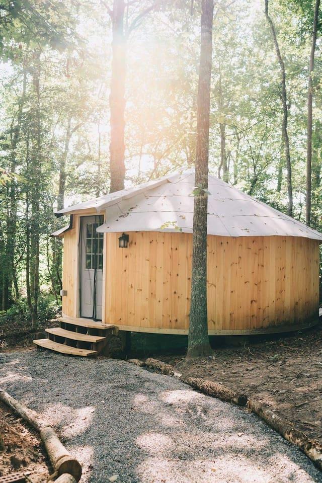 S.S. Yurt Glamping Warm and Romantic