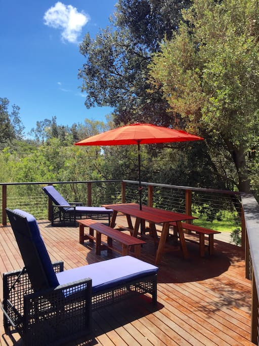 Listen to waves or birdsong, have a BBQ, or see the night sky from the expansive deck.