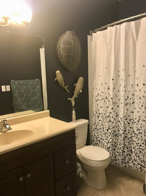 Whimsical private bathroom