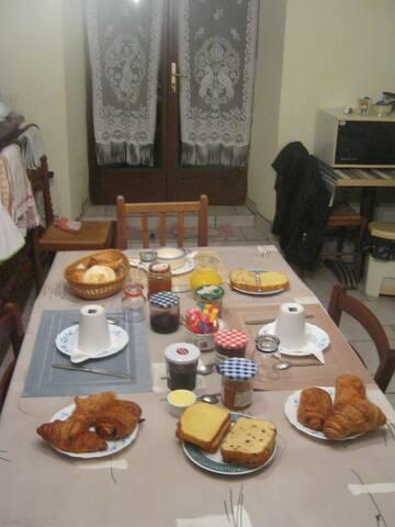 petit déjeuner offert