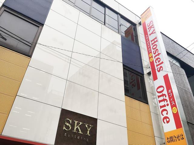 SKY Hostels 両国 309号室(セミダブルベッド)