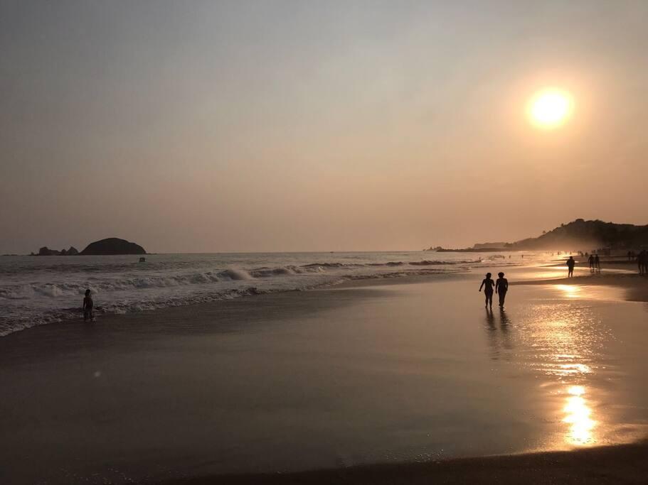 Playa enfrente al depto