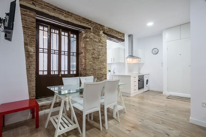 Modern flat for 4 or 5 people in the center of Sev