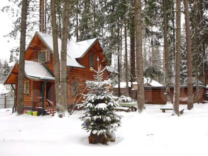 Дом в лесу с русской баней