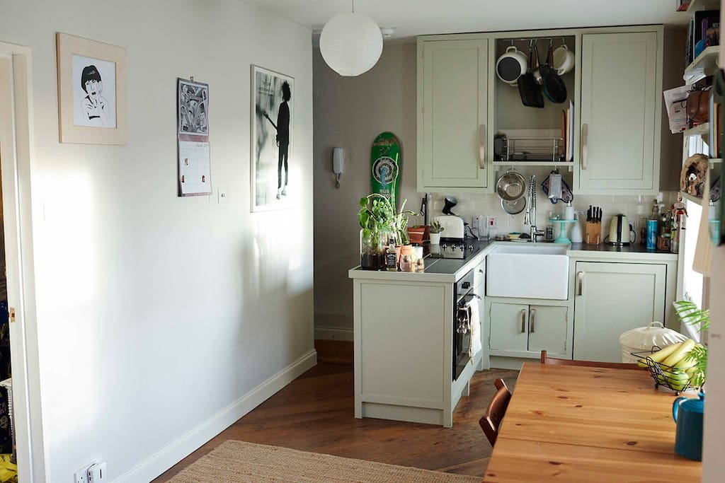 Kitchen and extendable dining table/desk