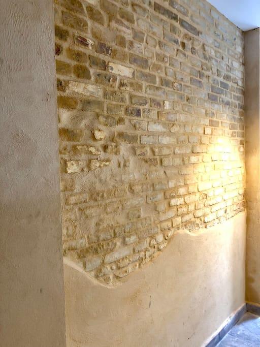 Detalle de pared rústica