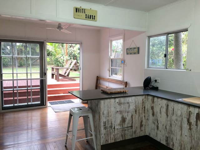 Kitchen out to deck
