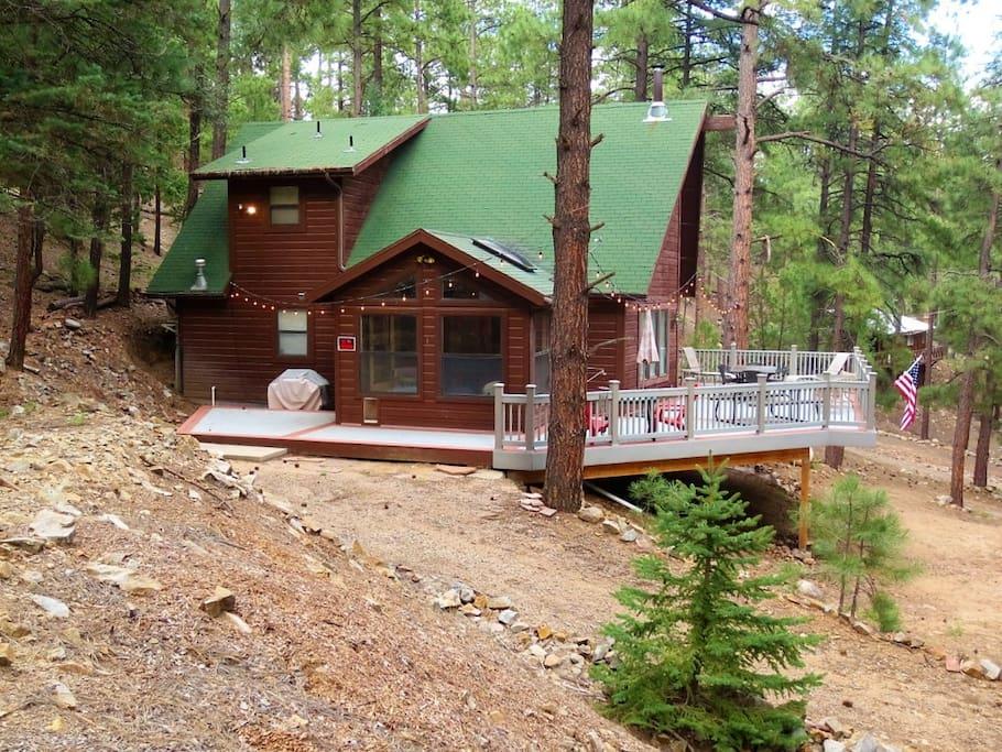 cabin forest fox prescott views den great w cabins