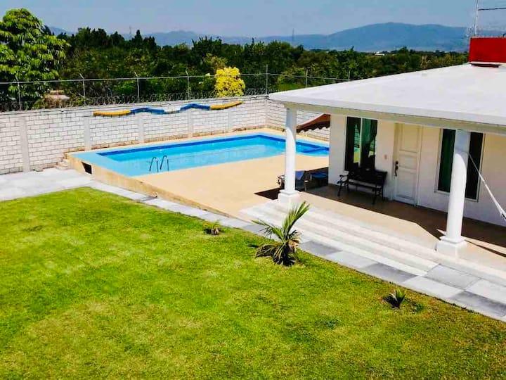 Bonita casa Oaxtepec tranquila para disfrutar