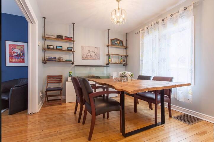 Boho-Chic Craftsman Apartment steps to Parliament